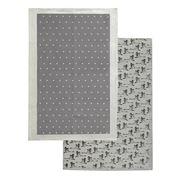 Rain & Humble - In Flight Tea Towel Pack 2pk Cygnet Grey
