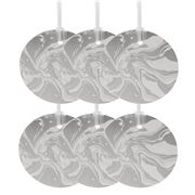 Vandoros - Marbled Silver Gift Tag 6pk