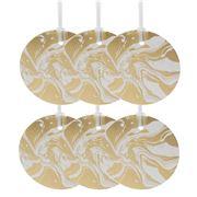 Vandoros - Marbled Gold Gift Tag 6pk
