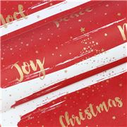 Vandoros - Wishes Red/Gold Wrapping Paper 76cm x 2.5M