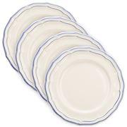 Gien - Filet Bleu Dinner Plates Set 4pce