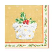 Mac's - Cupcakes Gold Napkins Lunch  20pk