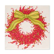Caspari - Berries & Bow Ivory Lunch Napkins 20pk