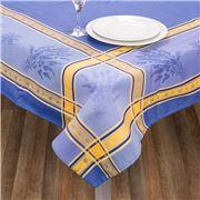 L'Ensoleillade - Senanque T/Cloth Bleu/Jaune 200x160cm