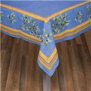 L'Ensoleillade - Clos Bleu Coated Tablecloth 200x155cm