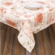 L'Ensoleillade - Shell Coral Coated Tablecloth 200x145cm