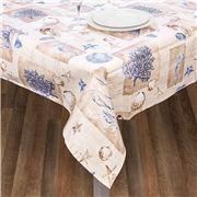 L'Ensoleillade - Shell Bleu Coated Tablecloth 200x145cm