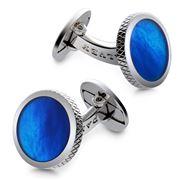 Dalvey - Blue Mother Of Pearl Torque Cufflinks