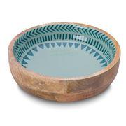Davis & Waddell - Ojai Mango Wood Enamel Serving Bowl 20cm