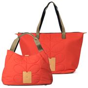 Orla Kiely - Quilted Red Shoulder Bag & Zip Shopper Set