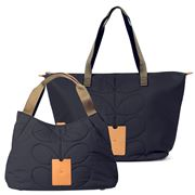 Orla Kiely - Quilted Indigo Shoulder Bag & Zip Shopper Set