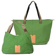 Orla Kiely - Quilted Green Shoulder Bag & Zip Shopper Set