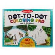 Melissa & Doug - Dot-To-Dot Wild Animals Colouring Pad