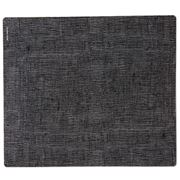 Modern Twist - Black On Grey Linen Silicone Placemat