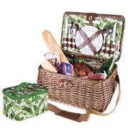 Avanti - Four Person Picnic Basket Tropical Leaf