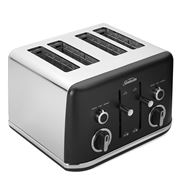 Sunbeam - Gallerie Four Slice Toaster TA2640 Black Midnight