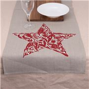 Eastbourne Art - Xmas Table Runner 150x50cm Red Star