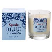 Spode - Blue Italian Florals Glass Jar Candle