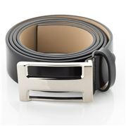 Fedon - U10-35 Calf Leather Belt Black