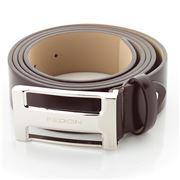 Fedon - U10-35 Calf Leather Belt Brown