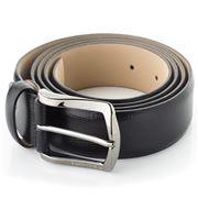 Fedon - U15-35 Palmellato Grained Leather Belt Black