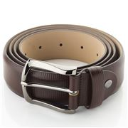 Fedon - U15-35 Palmellato Grained Leather Belt Brown