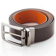 Fedon - U12 Double Face Calf Leather Belt Brown/Orange