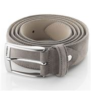 Fedon - Cintura-115 Scamosciato Leather Belt Beige