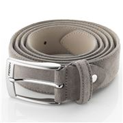 Fedon - Cintura-125 Scamosciato Leather Belt Beige