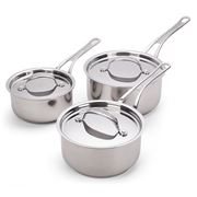 Tefal - Jamie Oliver Premium S/Steel Saucepan Set 3pce