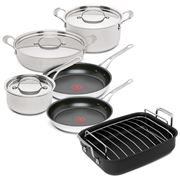 Tefal - Jamie Oliver Premium S/S Cookware Set 5pce + Roaster