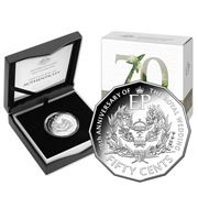 RA Mint - Royal 70th Wedding Annivers. 50c Silver Proof Coin