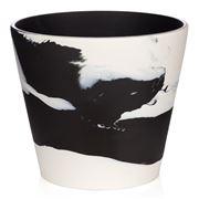 Wedgwood - Burlington Pot White On Black 7 Inch/17.8cm