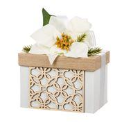Boz Christmas - White Hamptons Poinsettia Box w/ Cookies