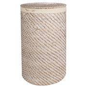 Rattan - Whitewash Large Laundry Hamper