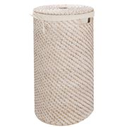 Rattan - Whitewash Medium Laundry Hamper