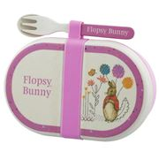 Beatrix Potter - Flopsy Snack Box w/ Cutlery Set