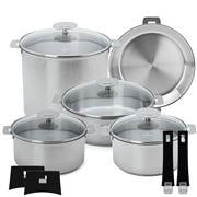 Cristel - Mutine Cookware Set 13pce Rem Handle