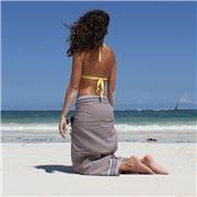 Simone et Georges - Sarong Kikoy Beach Towel Taupe