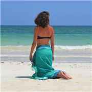 Simone et Georges - Sarong Kikoy Beach Towel Ipanema