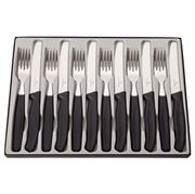Victorinox - Classic Steak Knife & Fork Set Black 12pce