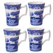 Spode - Blue Italian Cottage Mugs 4pce Set