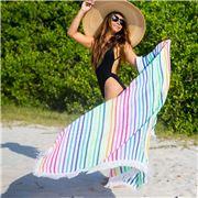 Las Bayadas - La Iris Beach Blanket with Tassels