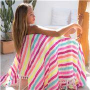 Las Bayadas - La Teri Beach Blanket with Tassels
