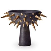 L'objet - Celestial Bowl On Stand Black & Gold Small