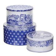 Pimpernel - Blue Italian Set of 3 Cake Tins