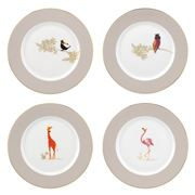 Portmeirion - Sara Miller Piccadilly Set of 4 Cake Plates