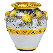 Grandi Maioliche Ficola - Terracotta Pot H50 Limoni Toscani