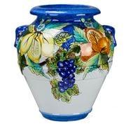 Grandi Maioliche Ficola - Terracotta Pot H50 Frutta Rosy