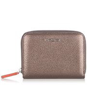 Fedon - Amelia Bottalato Zip Wallet Metallic Beige